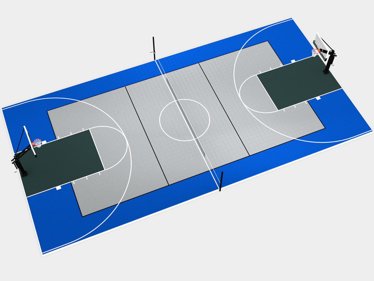 80' x 40' Multi-Court with Components
