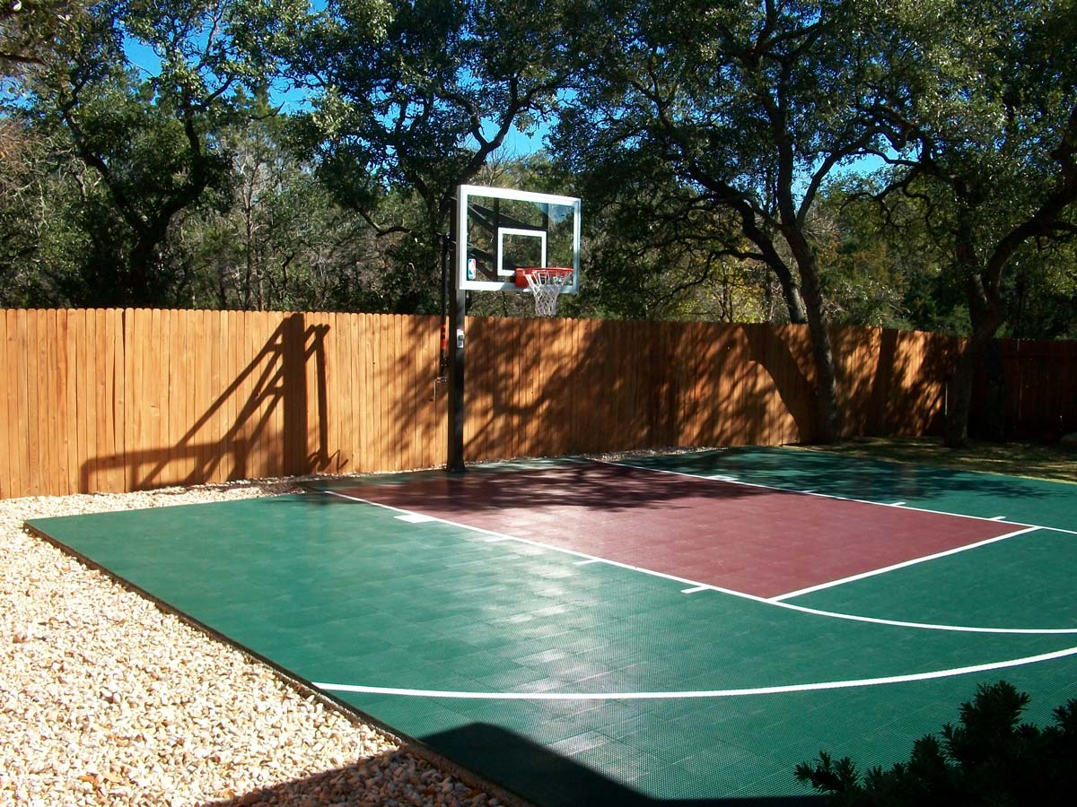 backyard half basketball court