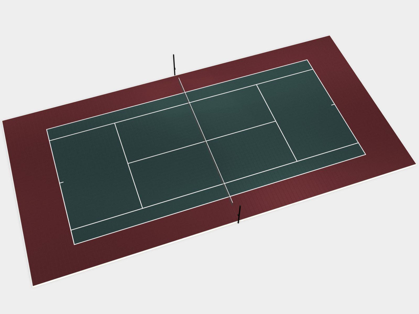 100' x 50' Tennis Court