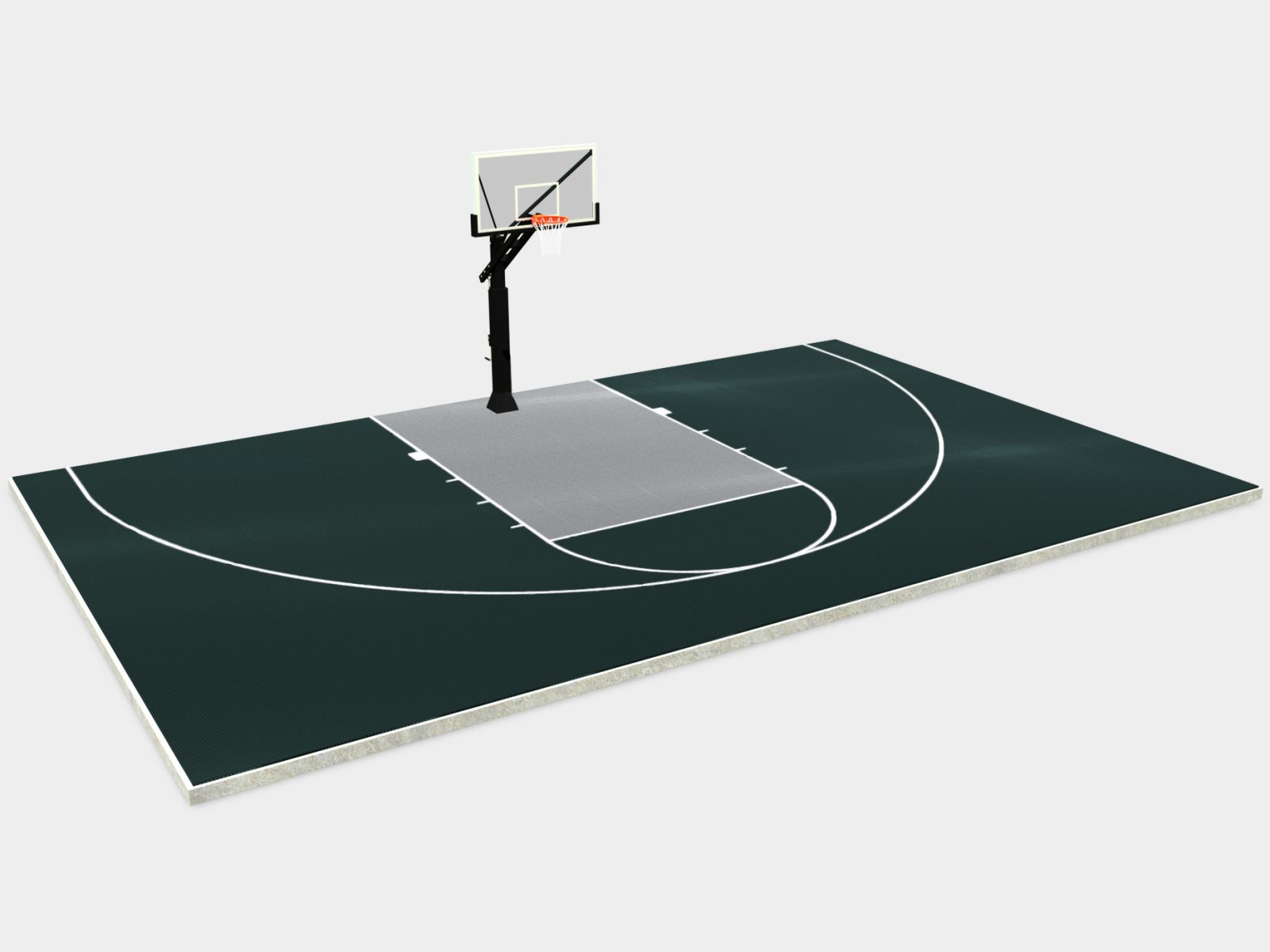 44' x 28' Basketball Half Court
