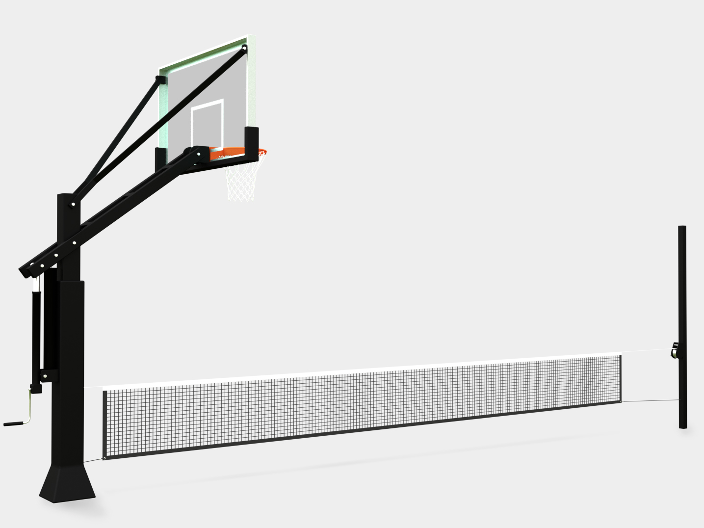 Half-Court Multi-Game Net System